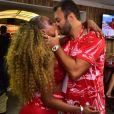 Carnaval de Roberta Rodrigues foi com muitos beijos no namorado, Guilherme Guimarães, no Camarote Verão