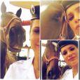 Flávia Alessandra posa ao lado da égua com quem contracena em 'Salve Jorge'