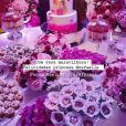 Rafaella Santos decorou mesa de doces com trufa de uva, merengue, brigadeiro belga, mini banoffe e mais