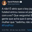 Amiga de Manu Gavassi, Karol Pinheiro defende Bruna Marquezine