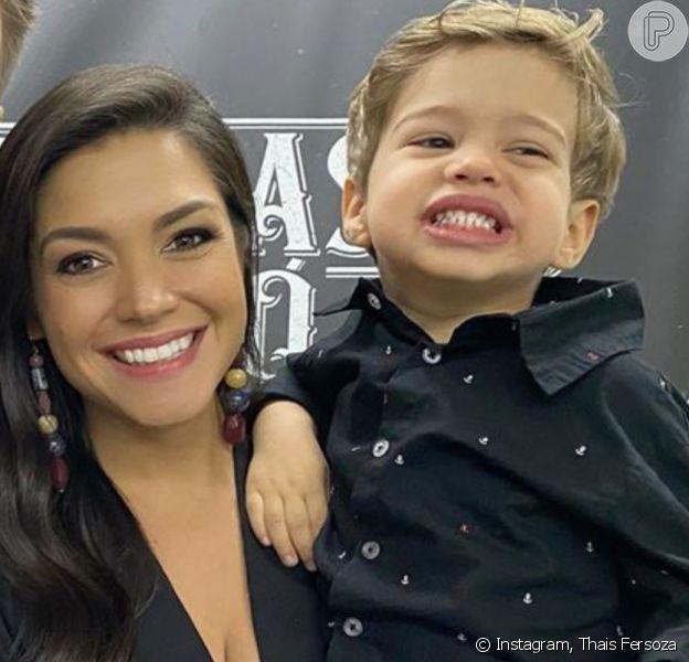 Thais Fersoza pede opinião da filha sobre semelhança dela com caçula. Veja vídeo compartilhado pela artista nesta quarta-feira, dia 01 de abril de 2020