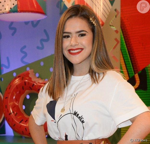 Maisa Silva mostrou cabelo em processo de transição capilar e pele bem cuidada em fotos na web