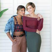 Flávia Alessandra e Giulia Costa posam para ensaio e relatam rotina em casa