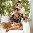 Flávia Alessandra  tem vivido o isolamento domiciliar com a família