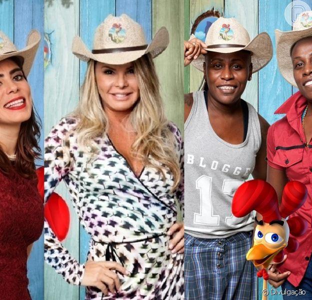 Heloísa Faissol, Cristina Mortágua e a dupla Pepê & Neném estão na Roça de 'A Fazenda 7'