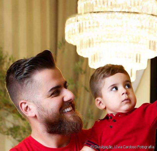 Filho de Zé Neto tem reação inusitada ao ver o pai sem barba e cabelo, 17 de maio de 2020