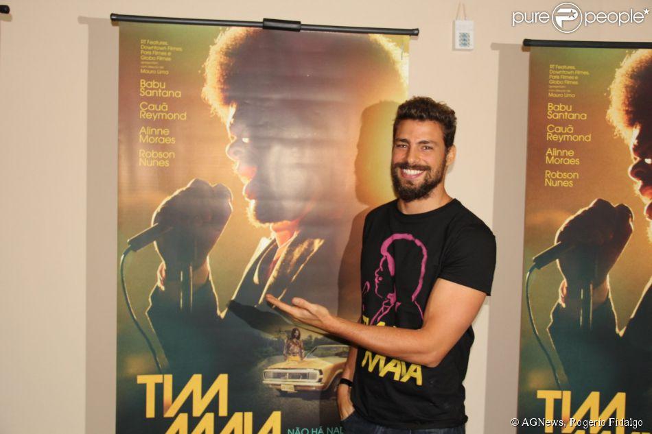 Cauã Reymond participa da coletiva do filme 'Tim Maia' nesta terça-feira, 28 de outubro de 2014