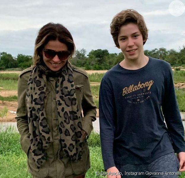 Giovanna Antonelli e Murilo Benício comemoraram juntos o aniversário de 15 anos do filho, Pietro