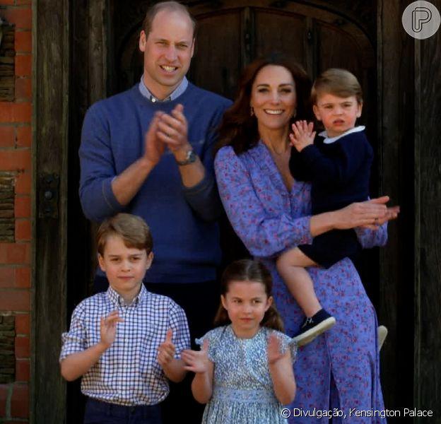 Príncipe William posa para foto com os filhos George, Charlotte e Louis antes de aniversário de 38 anos, em 20 de junho de 2020