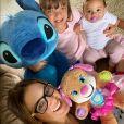 Ticiane Pinheiro é mãe de duas meninas: Rafaella Justus e Manuella