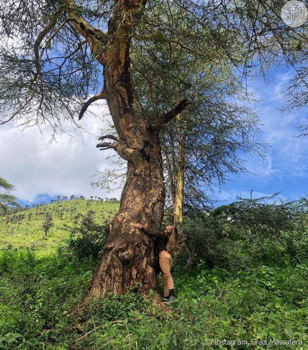 Grazi Massafera viaja para a Tanzania de férias com Caio Castro
