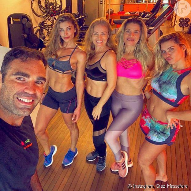 Grazi Massafera ostenta corpo sequinho aos 38 anos; atriz faz muay thai com Chico Salgado, personal trainer de Angélica, Bruna Marquezine e mais famosas