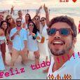 Grazi Massafera curtiu réveillon de 2020 com Caio Castro e amigos do ator em Carneiros, Pernambuco