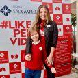 Adriane Galisteu é mãeVittorio Iodice, de 9 anos