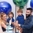 A festa do filho mais novo de Andressa Suita e Gusttavo Lima, Samuel, aconteceu na casa da família