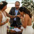 Há mais de dez anos celebrando o amor, o Rev. Renato Dumas foi o cerimonialista do emocionante casamento