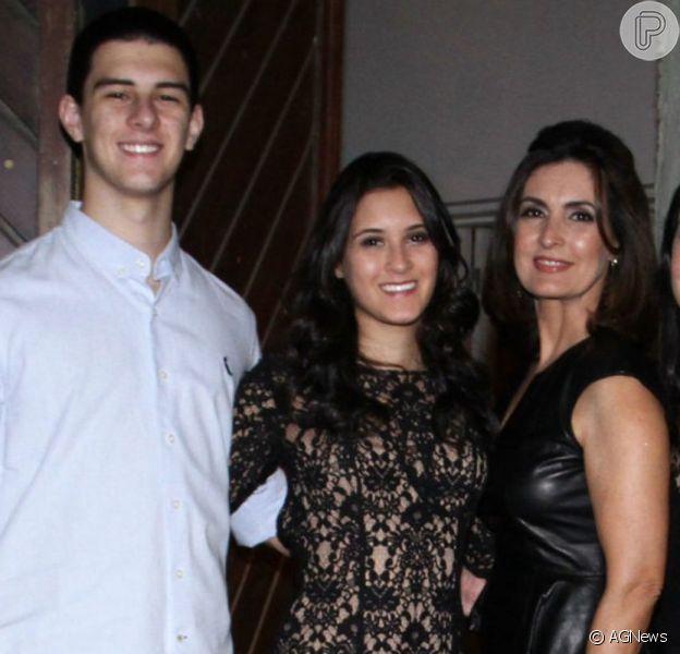 Fátima Bernardes se despediu do filho, Vinícius Bonemer, neste domingo, 30 de agosto de 2020