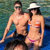 Rodrigo Faro curte praia com mulher e filhas e corpo rouba a cena: 'Tanquinho'