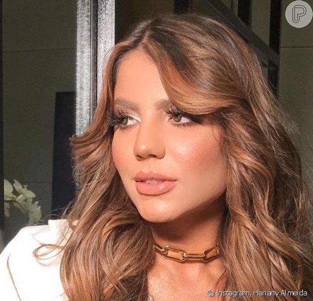 Hariany Almeida adotou cabelo escuro ao passar por mudança no visual: 'Uma nova mulher!'