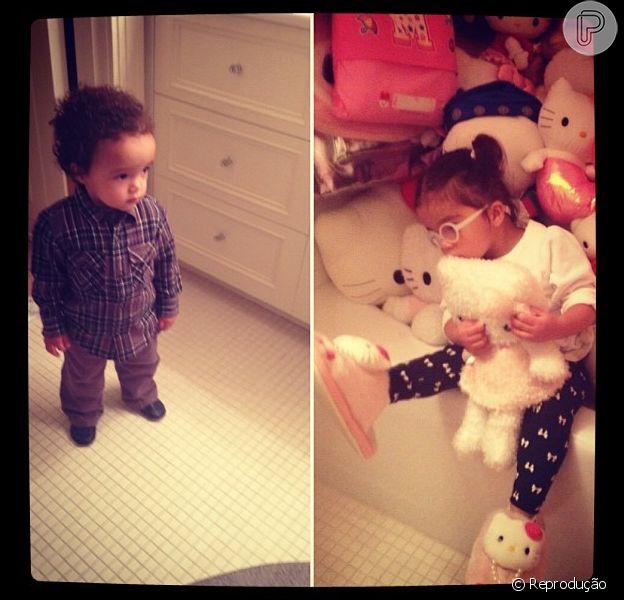 Mãe de gêmeos, Mariah Carey falou sobre as preferências de Monroe e Morrocan nesta sexta-feira, 1 de março de 2013