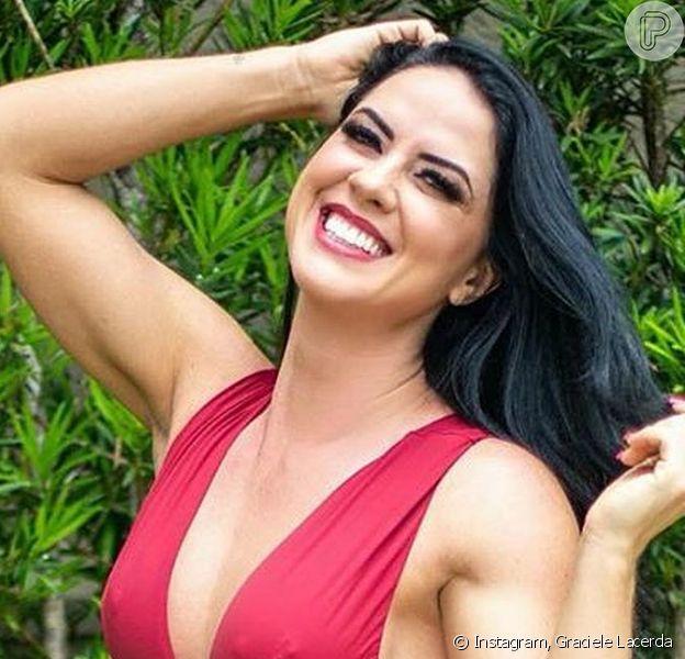 Graciele Lacerda aponta mudanças em corpo após mudar alimentação: 'Falsa magra'