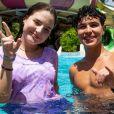 Igor Jansen mostrou momentos ao lado de Sophia Valverde no Beach Park, em Fortaleza