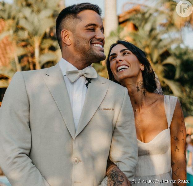 Veja fotos de casamento de André Coelho e Anna Clara, do 'De Férias com Ex'