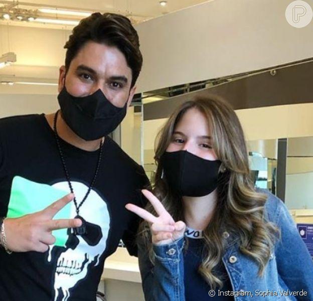Sophia Valverde hidratou e fez escova no cabelo ao mudar o visual, nesta segunda-feira, 5 de outubro de 2020