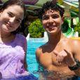 Sophia Valverde e Igor Jansen estão ganhando torcida dos fãs por namoro desde viagem que fizeram a parque aquático no Ceará