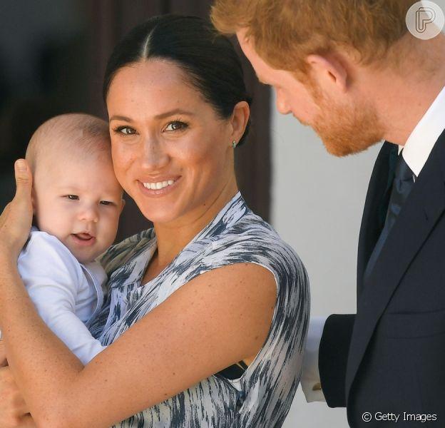 Meghan Markle e Harry viram primeiros passos do filho, Archie