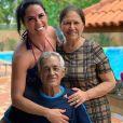 Pai de Zezé Di Camargo e Luciano, Francisco Camargo tem 82 anos. Na foto, ao lado da mulher, Helena, e da nora Graciele Lacerda