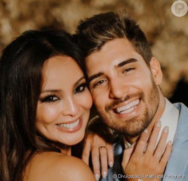 Carol Nakamura e Guilherme Leonel se casaram em 12 de novembro de 2020