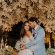 Carol Nakamura e o modelo Guilherme Leonel reuniram quatro casais de padrinhos em casamento