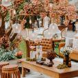 Detalhe da decoração do casamento de Carol Nakamura e Guilherme Leonel