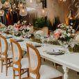 Detalhe da decoração do casamento de Carol Nakamura com o modelo Guilherme Leonel
