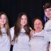 Mãe e filhos de Gugu Liberato lançam campanha de incentivo à doação de órgãos