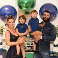 Separados após 5 anos, Gusttavo Lima e Andressa Suita são pais de Gabriel e Samuel, de 3 e 2 anos