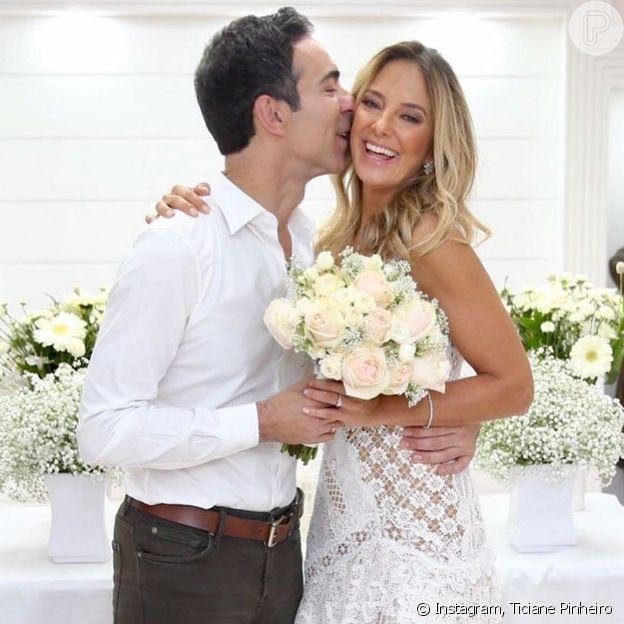 Ticiane Pinheiro comemora 3 anos de casamento com César Tralli nesta quarta-feira, 2 de dezembro de 2020