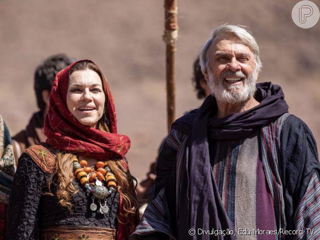 Novela 'Gênesis' vai contar a história de Abraão (Zécarlos Machado) e Sara (Adriana Garambone)