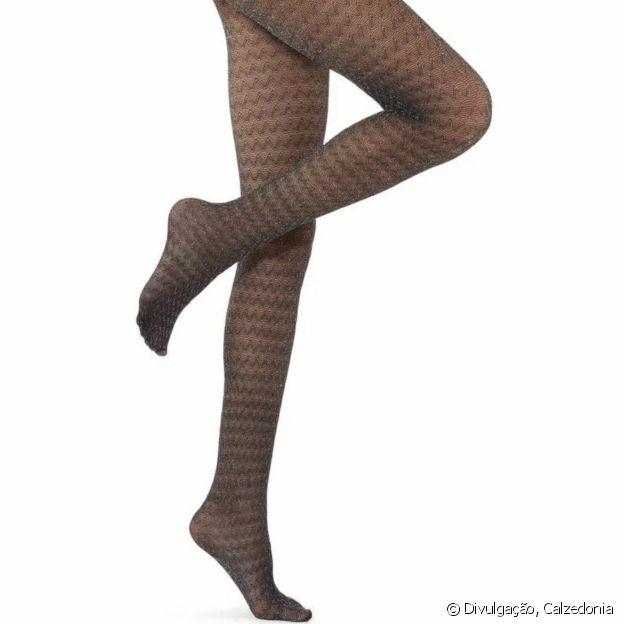 Meia-calça zig zag deixa a produção fashionista