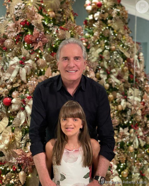Roberto Justus comemora o Natal ao lado da filha Rafaella Justus, de 11 anos
