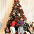 Andressa Suita passou o Natal com seus filhos com Gusttavo Lima