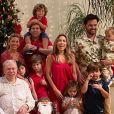 Silvio Santos reuniu mulher, filhas, genros e netos no Natal