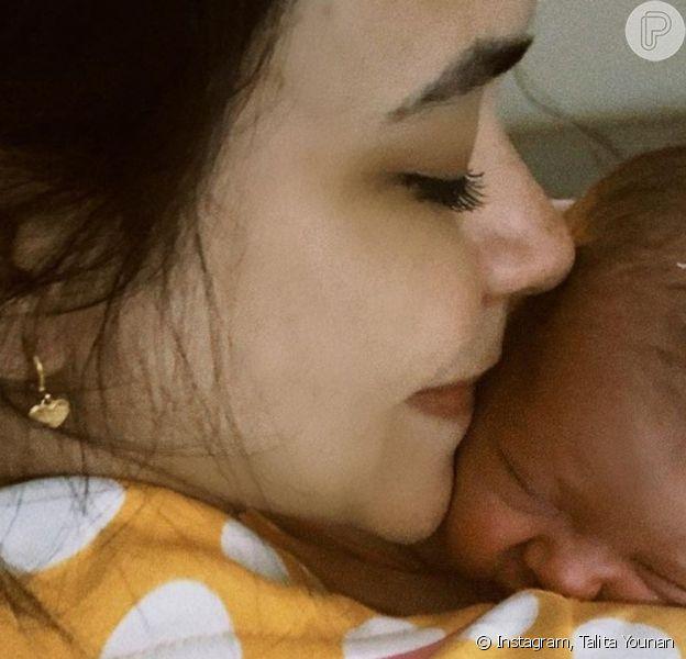 Talita Younan contou como foi o parto da primeira filha, Isabel