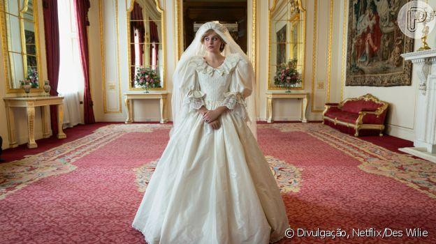 Vestido de noiva de Diana em 'The Crown'