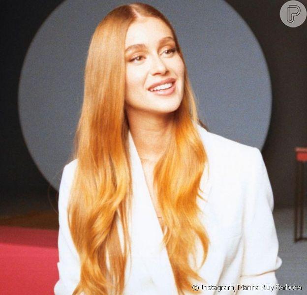 Ruiva natural, Marina Ruy Barbosa mantém o brilho dos cabelos vibrantes com tratamentos