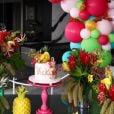 Festa de 9 meses da filha de Ana Paula Siebert e Roberto Justus contou com tema tropical