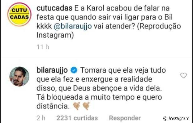 Arcrebiano quer evitar contato de Karol Conká fora do 'BBB 21'