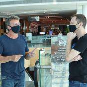 Reunião sobre 'BBB 21'? Tiago Leifert, Boninho e Rodrigo Dourado vão juntos ao shopping