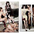 Leighton Meester tira fotos com homens nus